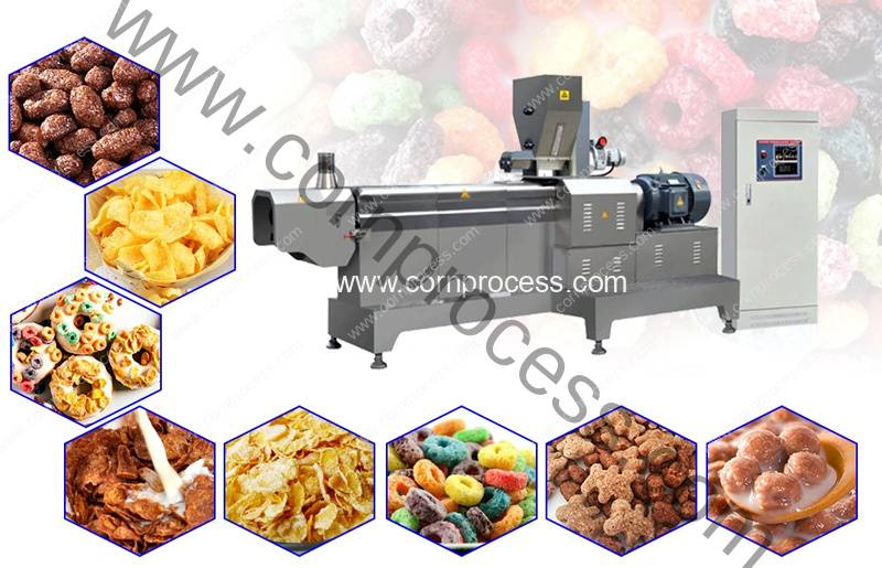 Automatic-Cereal-Corn-Flakes-Extruder-Machine