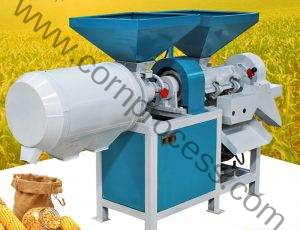 Small Corn Peeling and Grits Grinding Machine