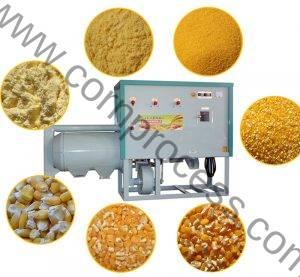 Automatic 500KGH Corn Grits and Corn Flour Grinder Machine